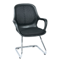 Black Synthetic Leather Queen Visitor Chair