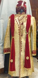 Golden Wedding Wear Sherwani