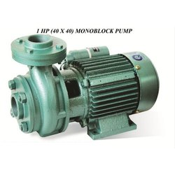 15 to 50 m 1 HP 40x40 MM Monoblock Pump, Warranty: 12 months, Maximum Discharge Flow: 100 - 500 LPM