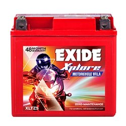 12 V XLTZ5 Exide Xplore Bike Battery, Warranty: 48 Months, Capacity: 4 Ah