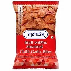 Chilli Garlic Bites, 200 G, Packaging Type: Plastic Packet