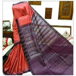Santosh Handloom Party Wear Tussar Silk Saree, 6.5 m