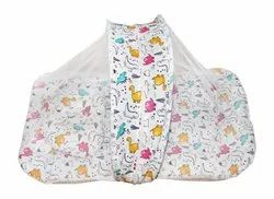 Baby Bedding With Folding Mosquito Net Having Thick & Soft Base With Pillow