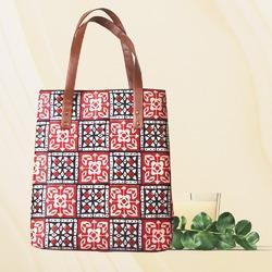 Tussar Silk Tote Bags