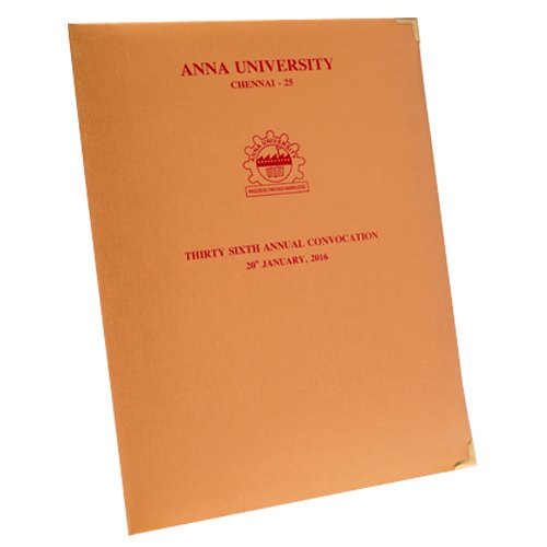 Convocation File with single Pocket Type -3