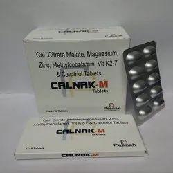Cal. Citrate 1000mg Magnesium 50mg Zinc  4mg  Methylcobalamin 750mg  vit K2-7  Calcitrol 0.25mcg