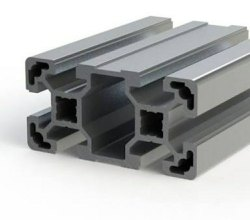 Square T Slot Aluminium Extrusion 40X80, Grade Series: 6063