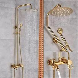 Luxury Golden Bathroom Shower Mixer Taps