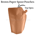 Brown Paper Spout Pouches