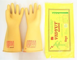 Unisex 33 KVA Vidyut Electrical Safety Rubber Seamless Hand Gloves