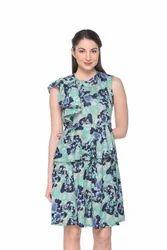 Women Floral Lycra Dress