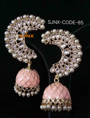 Pearl Jhumki Earrings Designer Jewellery