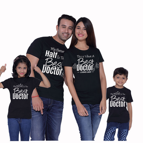 86e86c7de9 The Best Doctor Matching Family T-shirts at Rs 899 /piece   Tee ...