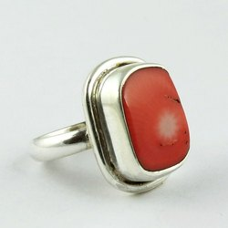 Original Coral Stone Ring