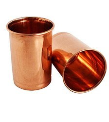 Copper Glass Plain Set of 2
