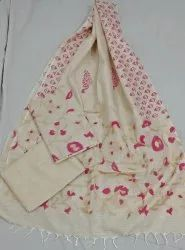Party Wear Khadi Cotton Ikkat Print Suit