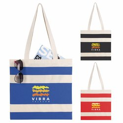 Striped Printed Promotional Bag
