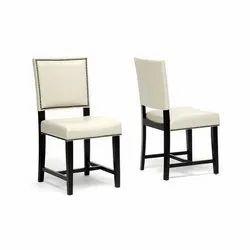 Designer White Wooden Chair