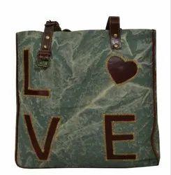 Love Sign Canvas Shoulder Beautiful Bag