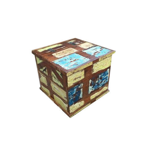 Wood Square Wooden Storage Box