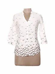 Ladies Birdes Print Shirt