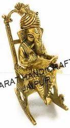 Golden Plated Chair Ganesh