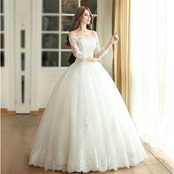 White Medium And Large Wedding Gown