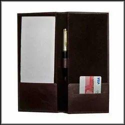 Leather Bill Check Folder Presenter for Restaurant and Hotel
