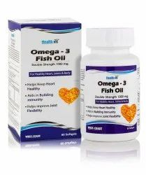 Omega 3 Fish Oil, Packaging Type: Plastic Bottle, Packaging Size: Box Size