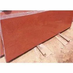 Polished Lakha Red Granite Slab, Thickness: 15-20 mm