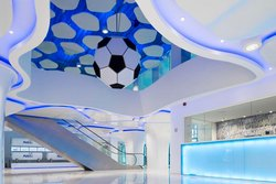 Blue, White Ecophon Solo Freedom Ceiling Services