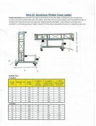 High Quality Aluminum Tiltable Tower Ladder