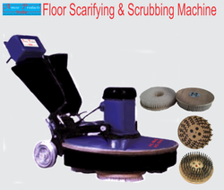 Three Brush Floor Scrubber Machine