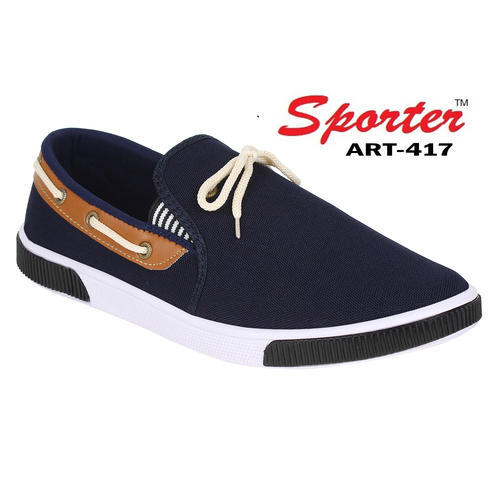 99d29745b02 Sporter Men Blue Canvas Loafer Shoes 417