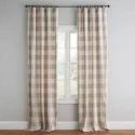 Check Window Cotton Curtain