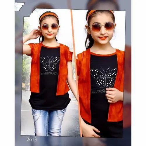 ecf497ad4ea42 Secret Kids Girls Half Sleeves Top