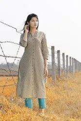 Printed Cotton Kurti with Pant Set Pair
