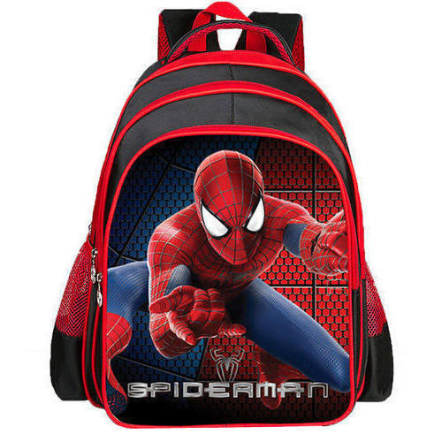 Nylon Spiderman School Backpack