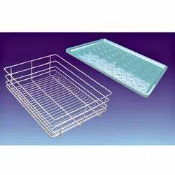 SS Plain Basket for Kitchen