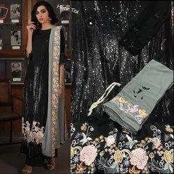 Georgette Black Pakistani Salwar Kameez