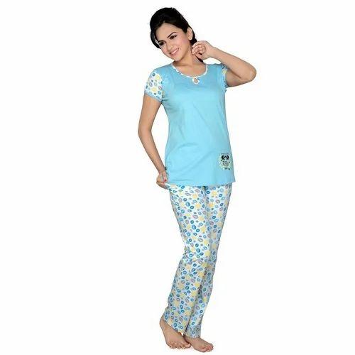 5ca1654804 Night Suits Plain Designer Ladies Night Suit
