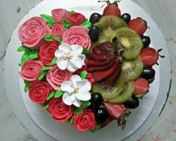 Fresh Fruit Birthday Cakes