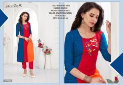 Rachna Rayon Delicate Embroidery Work Radiant Catalog Kurti For Women 4