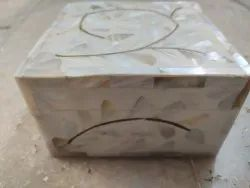 Square Polished MOP wooden box, For Event, Size: 5x5 Inches