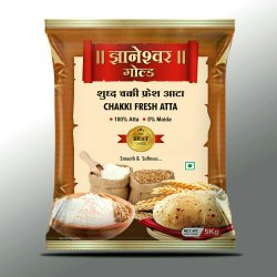 Dnyaneshwar Gold Shudh Chakki Fresh Atta, Pack Type: Packet