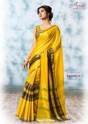 Printed Party Wear Cotton Silk Saree, With Blouse Piece, 5.5 m (separate blouse piece)