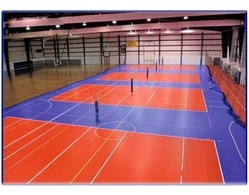 PVC Volley Ball Court Flooring Service