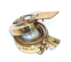 Antique Solid Brass Polish Military British Prismatic Compass