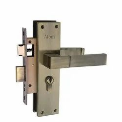 Stainless Steel Lever Atom Door Lock, Chrome