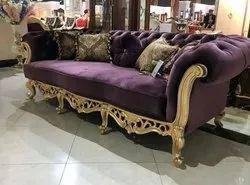 Wood 5 Seater Designer Sofa Set